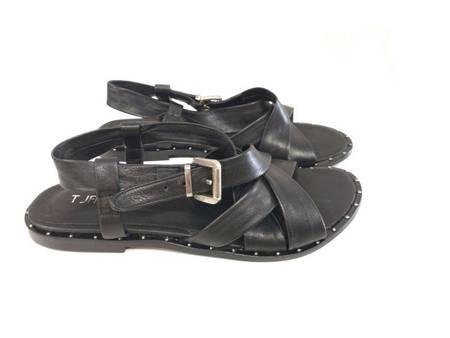Włoskie klasyczne skórzane sandały 18060 Tuffoni