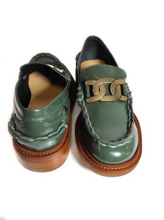 Włoskie mokasyny Loufer Green 1221009LL Tuffoni