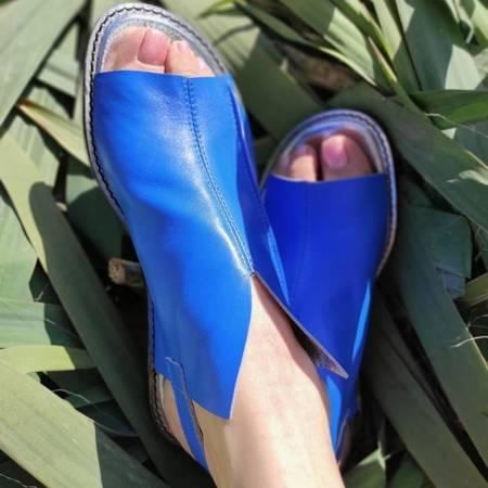 Włoskie sandałki niebieskie  1520066LL Tuffoni