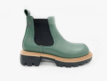 Włoskie  zielone botki 1521091LB Tuffoni